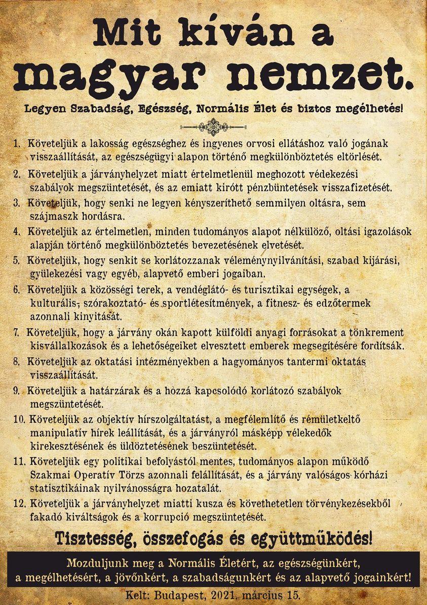 Mit kiván a magyar nemzet?